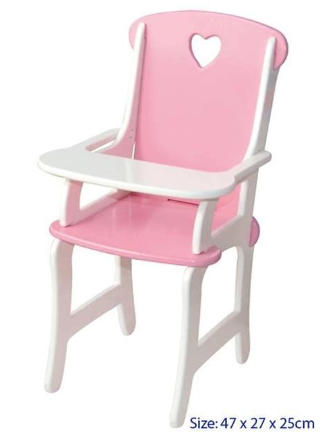 Baby Doll High Chair by Wow New Wooden Baby Doll High Chair Pretend Play Ebay