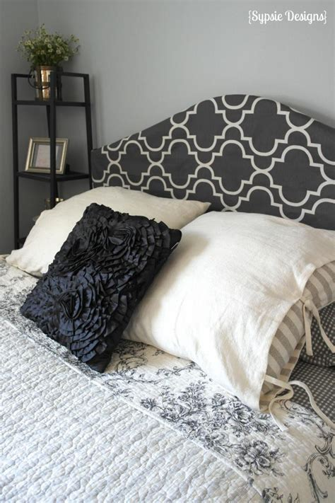 fabric for headboard covering remodelaholic easy no sew headboard slipcover tutorial