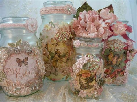 vintage decorated jars shabby chic pinterest