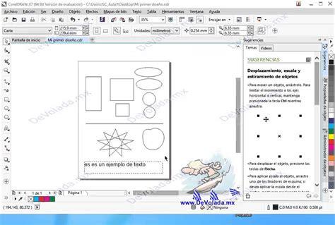 corel draw x7 que es como seleccionar y mover objetos en corel draw x7 youtube