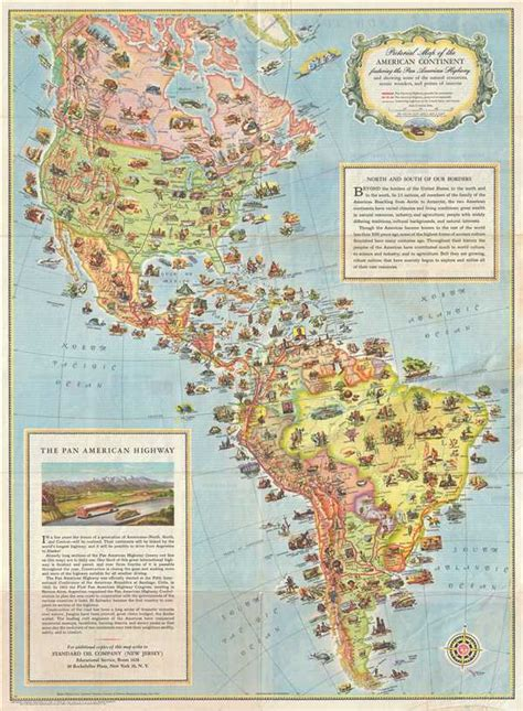 america resources map pictorial map of the american continent following the pan