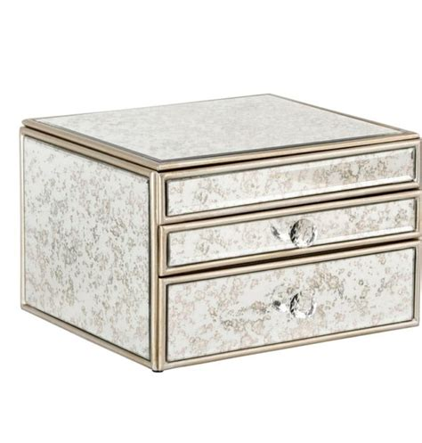 Mirrored Makeup Drawers by Antique Mirror Makeup Box The Makeup Box Shop