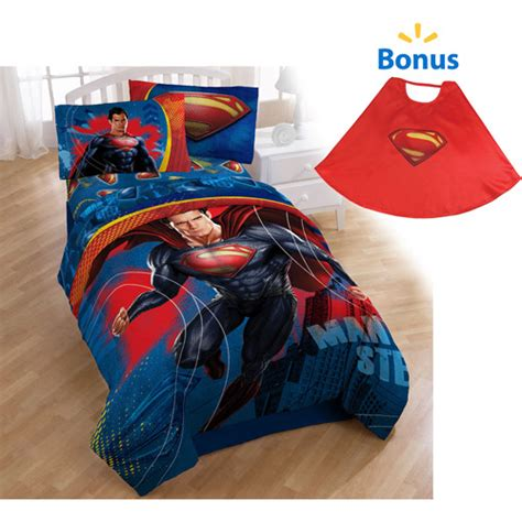 superman comforter with bonus cape walmart com
