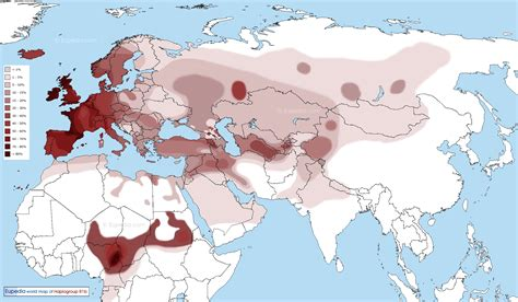 middle east dna map distribution maps of y chromosomal haplogroups in europe