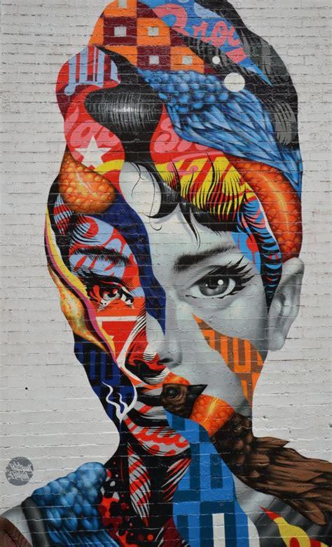 nyc street art multi layered woman custom wallpaper