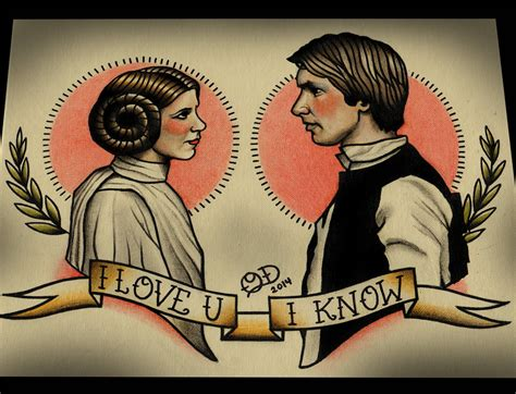 princess leia tattoo princess leia and han wars print