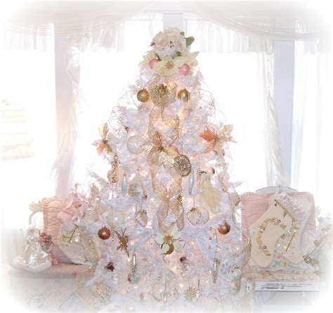 shabby chic christmas tree decorated christmas trees