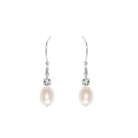 pearl drop earrings by chez bec notonthehighstreet