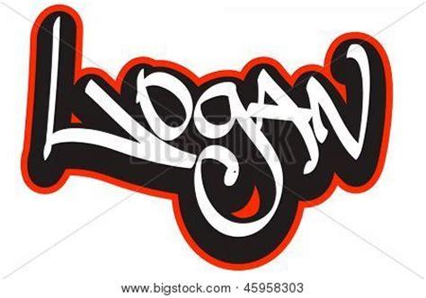 logan graffiti font style name hip hop design template