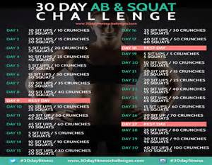 squats and abs challenge 30 day ab squat challenge chart she wears high