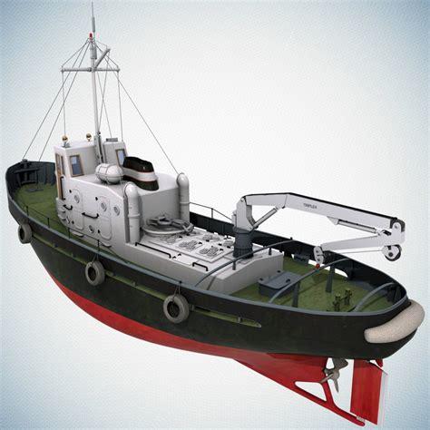 tugboat dwg 3d model tugboat crane