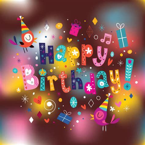 imagenes de happy birthday wendy happy birthday card stock vector illustration of blurred