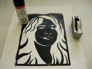 step  step  stencil portraits high school art