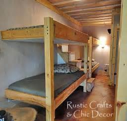 cabin bunk bed design rustic crafts chic decor