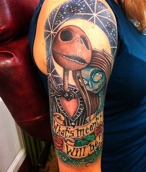 tattoo nightmares flower of survival 3d style incredible colorful nightmare before christmas