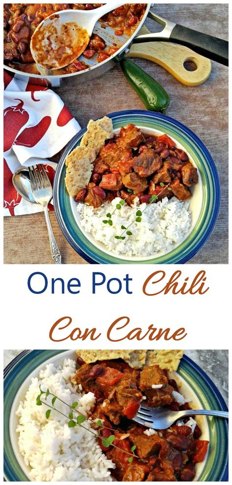 one pot comfort food one pot chili con carne warm up with this winter comfort