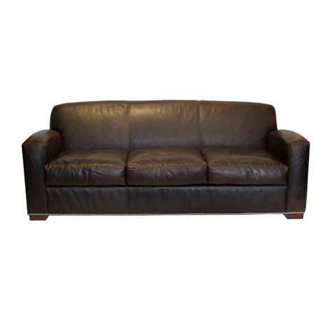 new quot graham quot leather sofa by ralph lauren for sale at 1stdibs