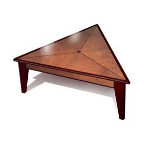 triangle coffee table crafted triangle coffee table by furniture