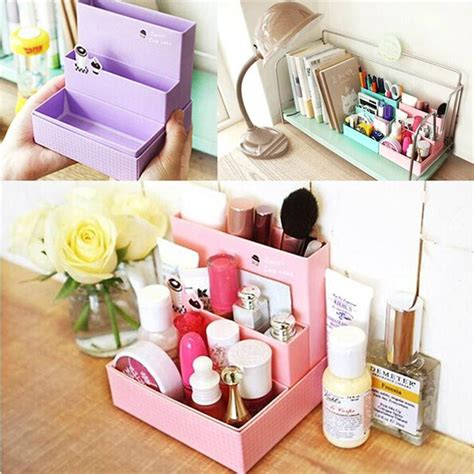 Gift For Office Desk Diy Organizer Handmade Paper Board Storage Box Stationery Makeup Cosmetic Storage Bin Gift
