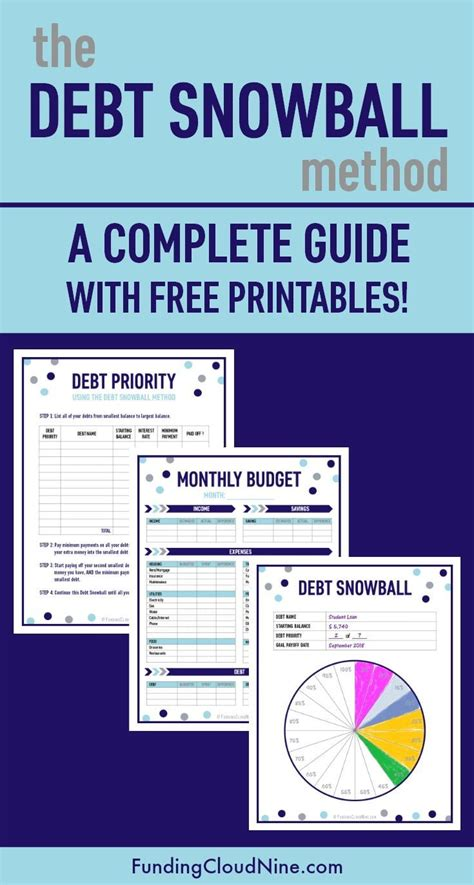 debt snowball method  complete guide  printables