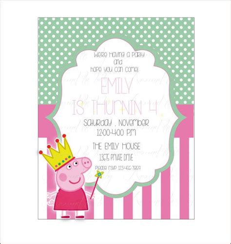 printable birthday cards etsy peppa pig princess birthday card dots pink diy printable