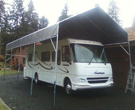 Motorhome Carport by Make Your Own 21 To 30 Portable Carport Shelter Kit