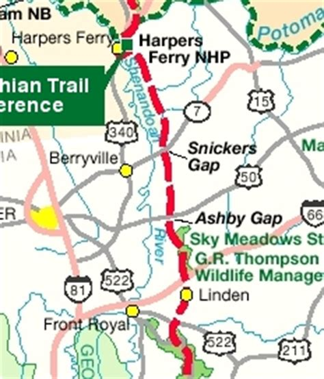 west virginia section 8 appalachian trail planner