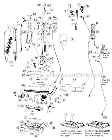oreck xlrh parts list  diagram ereplacementpartscom