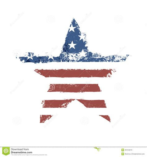 printable american flag stars the american flag print as star shaped symbol stock