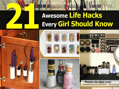 life hacks for home 21 awesome life hacks every girl should know