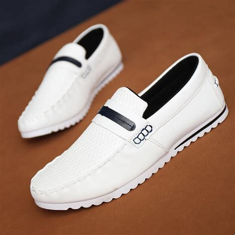 white loafers shoes 2015 new shoes moccasins casual flats shoes