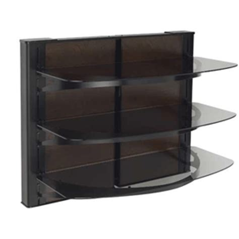 Component Shelf Wall Mount by Sanus 3 Shelf Wall Mounted A V Component System With