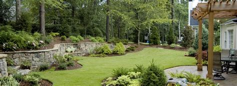 Landscape Designs For Backyards Atlanta Landscaping Company Unique Environmental