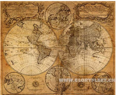 Decorative Wall Maps by 2015 Vintage Design Sailing Maps Global Poster Office