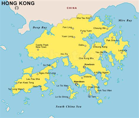 printable maps hong kong hong kong physical map by maps com from maps com world s