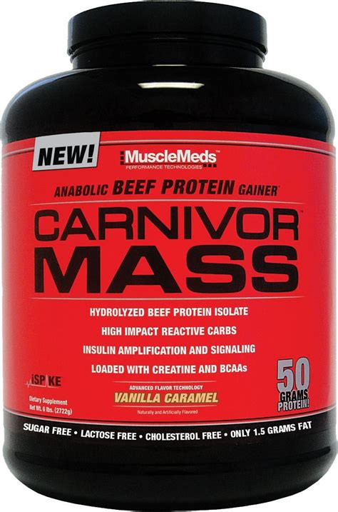 best gainer protein musclemeds carnivor mass beef protein weight gainers