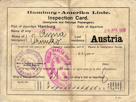 identification card ellis island template austrian immigrant inspection card gg archives