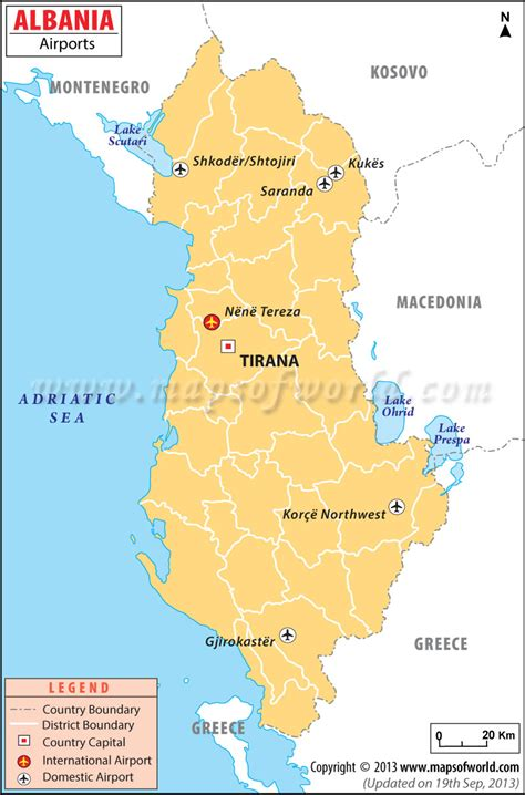 albania map airports in albania albania airports map