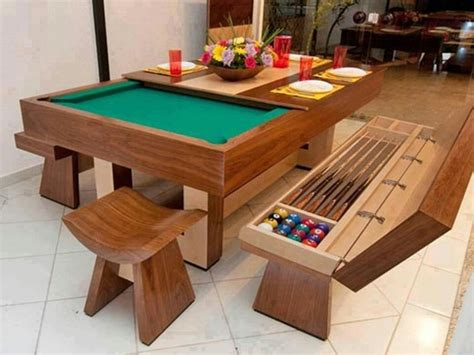 convert dining table into pool table ideas for the house
