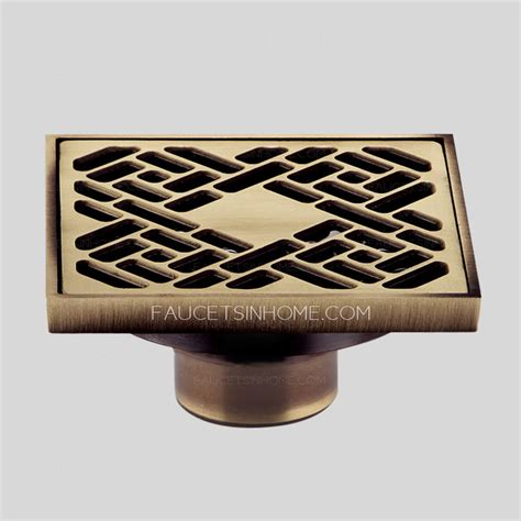 antique bronze t shape stainless steel shower drains