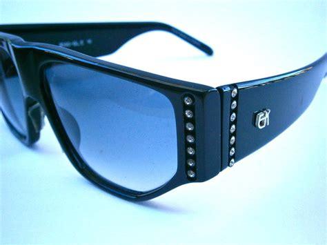 sunday sunnies belt glossy vintage emmanuelle khanh sunglasses rhinestone