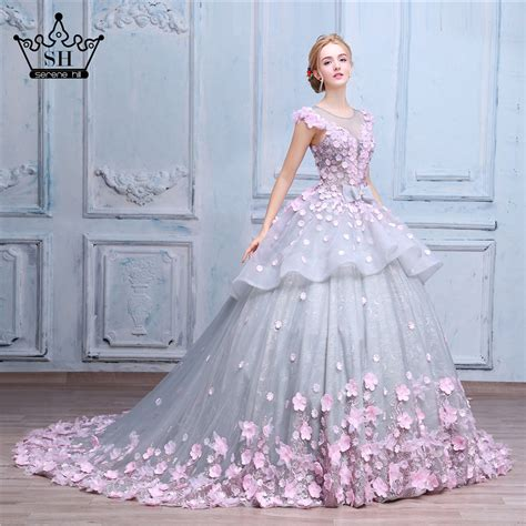 Wedding Flower Dresses by Pink Flower Gown Wedding Dress Bridal Dress Robe De
