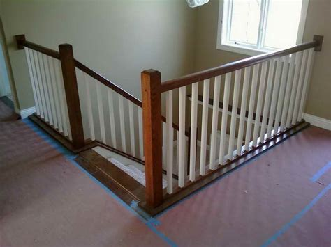 Building A Banister On A Staircase Lovely Railings Interior 7 Build Interior Stair Railing