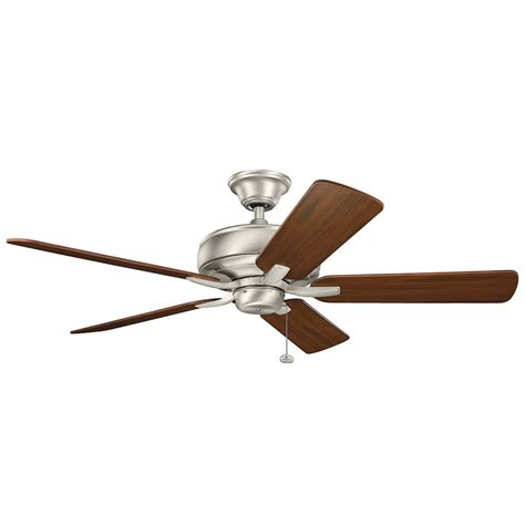 Ceiling Fan Without Light Kichler Lighting Terra Brushed Nickel Ceiling Fan Without Light 330247ni Destination Lighting