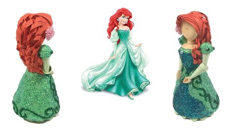 paper quilling doll tutorial paper quilled ariel doll youtube