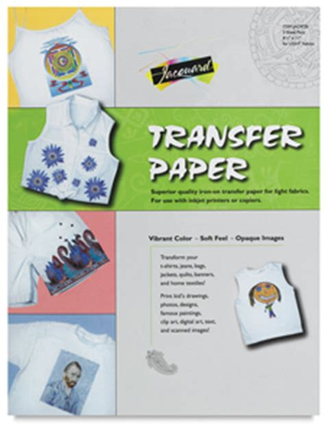 How To Make Iron On Transfer Paper - jacquard iron on transfer paper blick materials