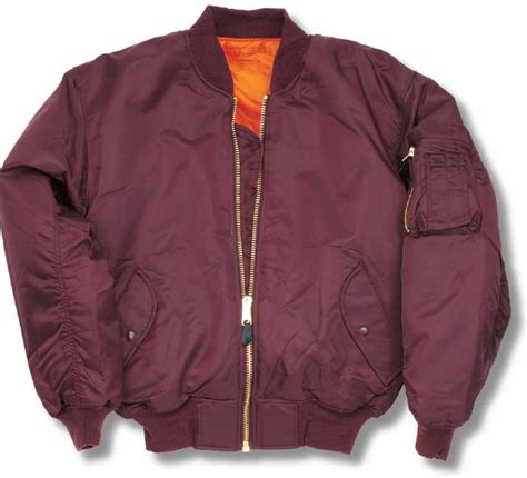 Bomber Jaket Maroon us ma 1 bomber flight jacket maroon gt army surplus
