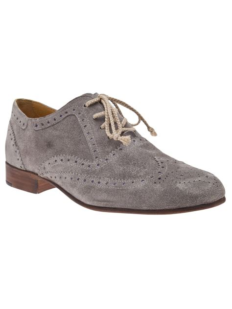grey oxford shoes esquivel davis oxford shoe in gray grey lyst