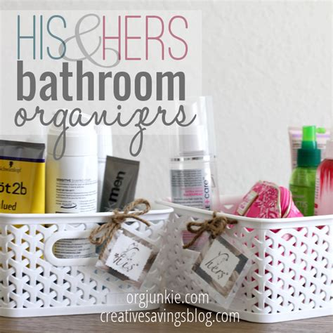 bathroom organizers pinterest his and hers bathroom organizers creative savings