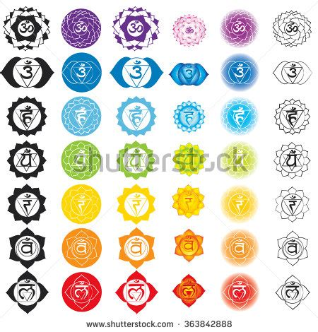 Tshirt 7music chakras icons concept chakras used hinduism stock vector